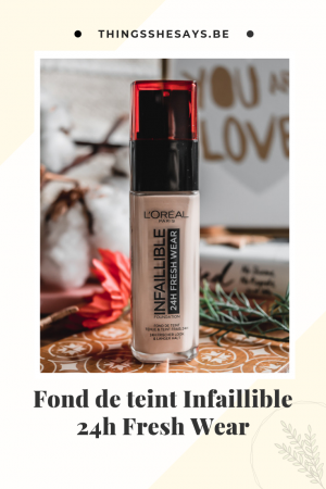 L'Oréal Infaillible 24h Fresh Wear avis